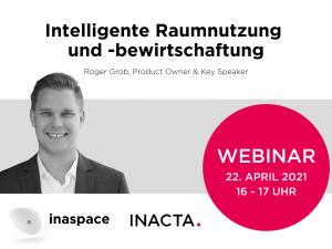 Webinar: inaspace – intelligente Raumnutzung und -bewirtschaftung