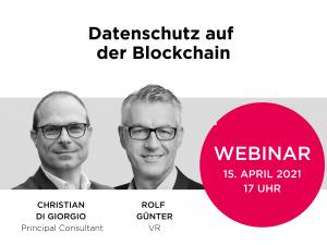 WEBINAR: Datenschutz auf der Blockchain